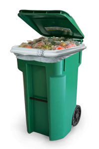 Ecosafe Green | Zero waste- 6400 Compostable Bags Lined Compost Cart