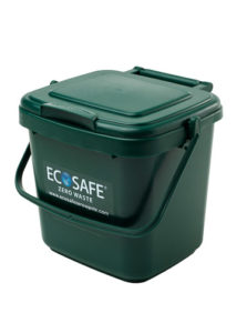 EcoSafe Kitchen Caddy Compost Bin Green