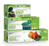 EcoSafe 6400 compostable bags retial bags